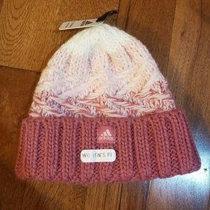 NWT Women's Adidas pink stocking cap hat